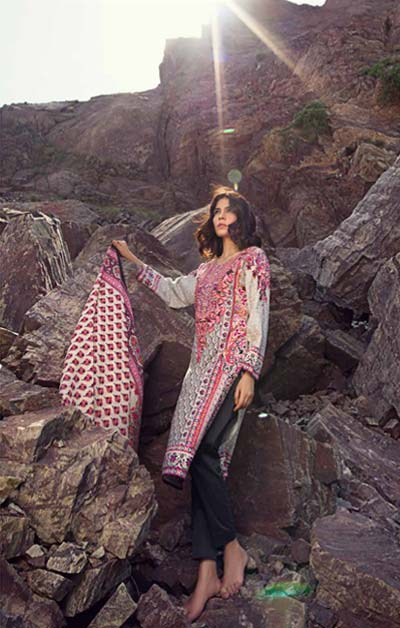 Sana Safinaz Latest Winter Shawls Collection Designer Ready Made Dresses for Women 2014-2015 (7)