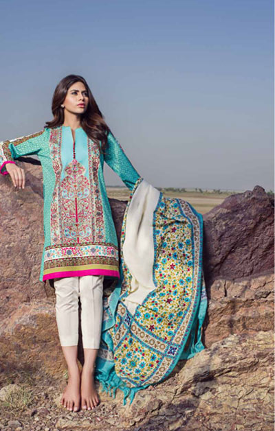 Sana Safinaz Latest Winter Shawls Collection Designer Ready Made Dresses for Women 2014-2015 (9)