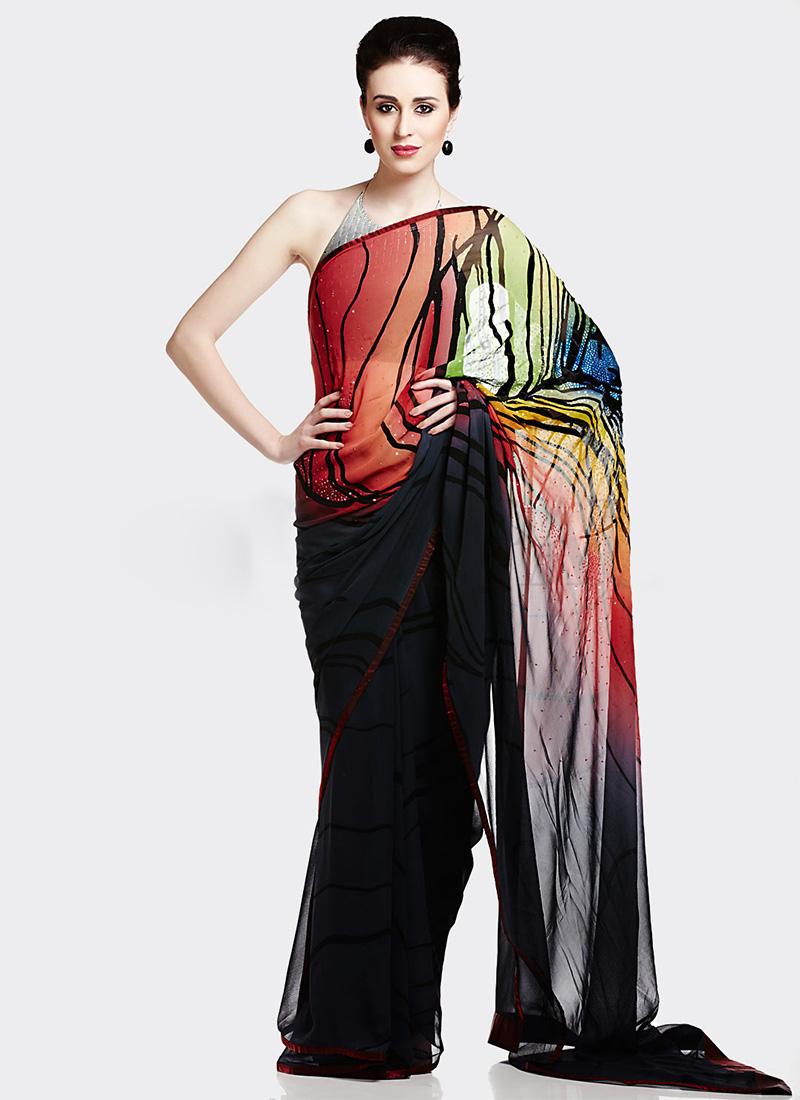 Satya Paul Indian Designer Saree Designs Collection 2015-2016 for Weddings & Parties (11)