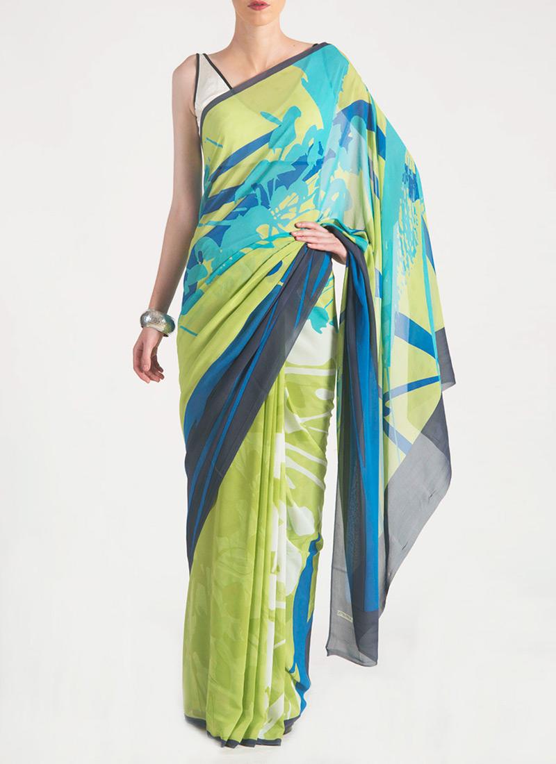 Satya Paul Indian Designer Saree Designs Collection 2015-2016 for Weddings & Parties (12)