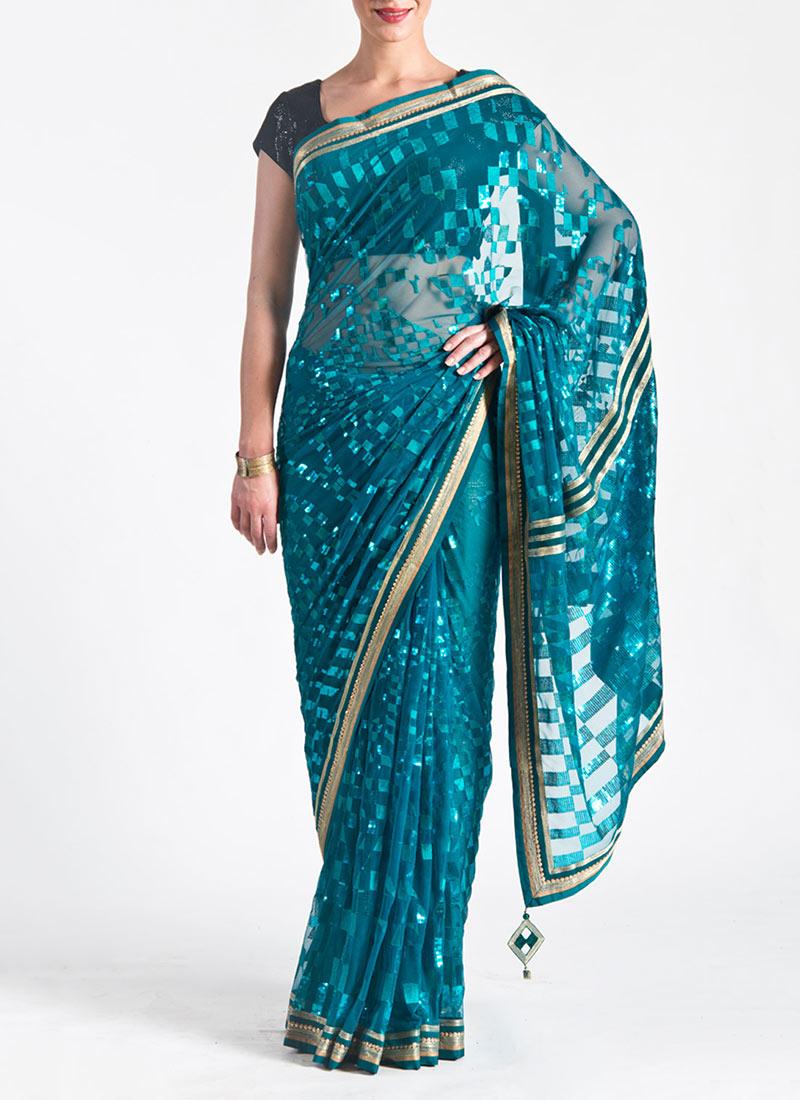Satya Paul Indian Designer Saree Designs Collection 2015-2016 for Weddings & Parties (35)
