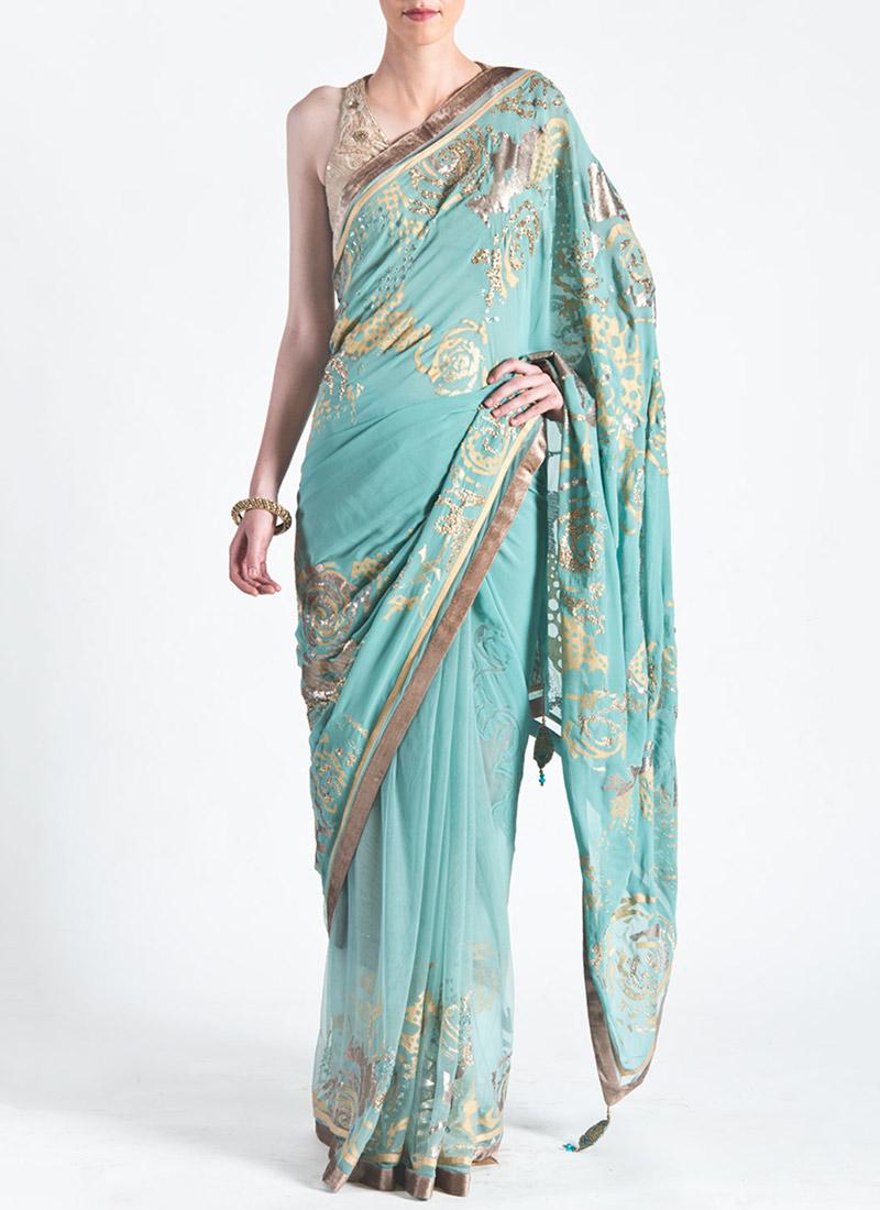 Satya Paul Indian Designer Saree Designs Collection 2015-2016 for Weddings & Parties (36)