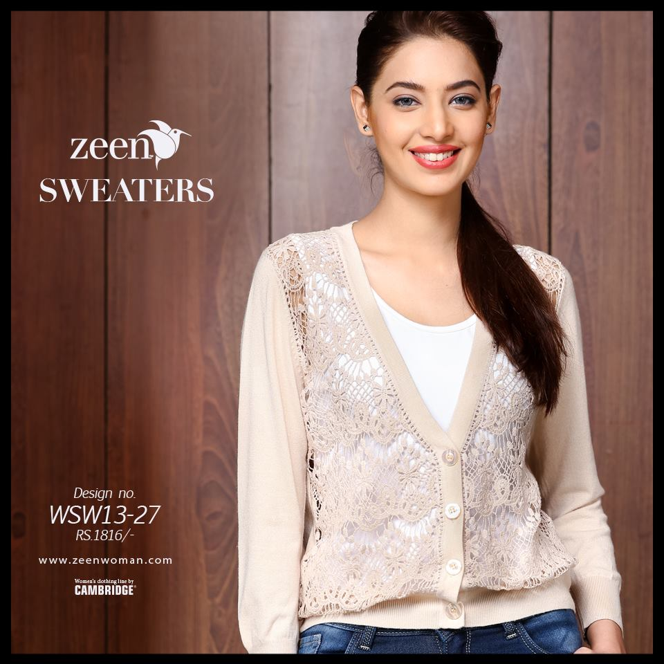 Zeen Cambrige Latest Winter Sweaters Designs & Hoodies Collection for Women 2014-2015 (2)