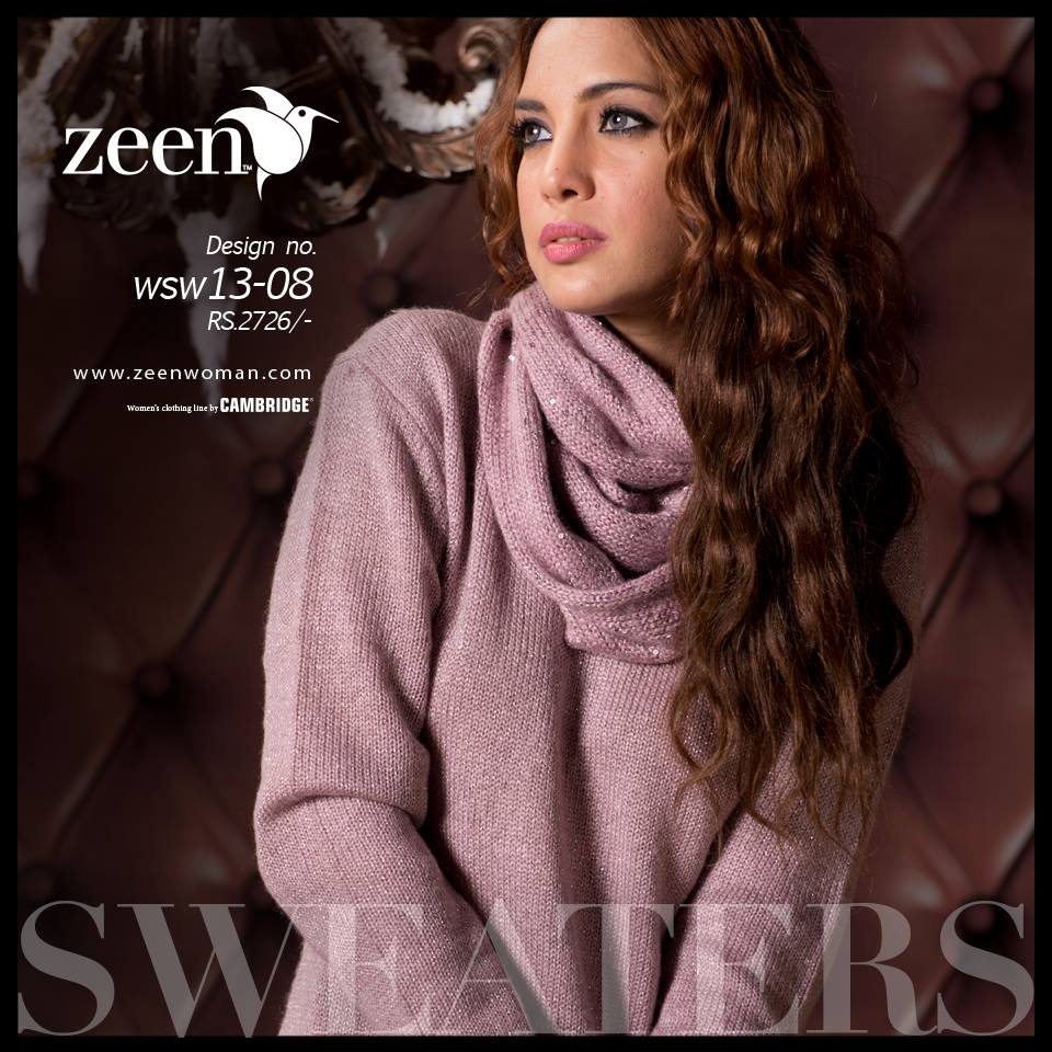 Zeen Cambrige Latest Winter Sweaters Designs & Hoodies Collection for Women 2014-2015 (3)