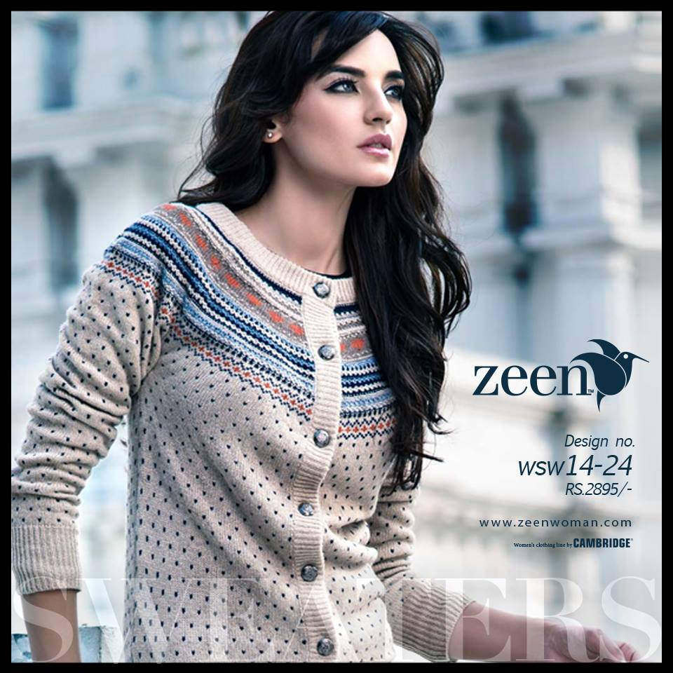 5222f8162 ... Zeen Cambrige Latest Winter Sweaters Designs   Hoodies Collection for  Women 2014-2015 ...