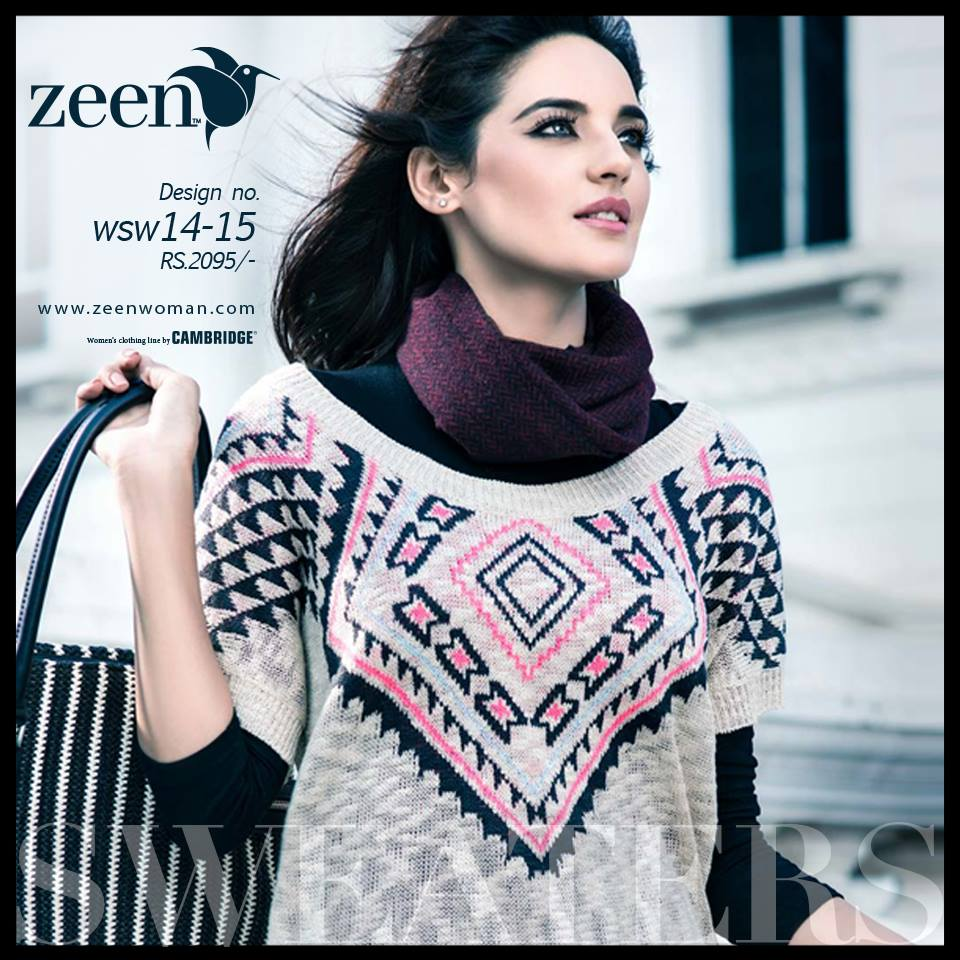 Zeen Cambrige Latest Winter Sweaters Designs & Hoodies Collection for Women 2014-2015 (8)