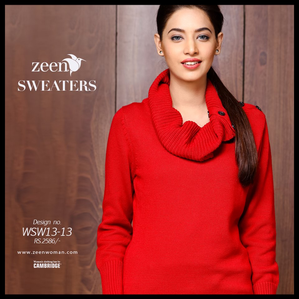 1327c5aa4ce804 ... Zeen Cambrige Latest Winter Sweaters Designs   Hoodies Collection for  Women 2014-2015 ...