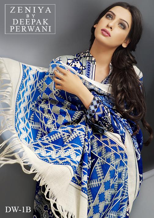 Zeniya By Deepak Perwani Latest Winter Shawl dresses Collection for Women 2014-2015 (10)