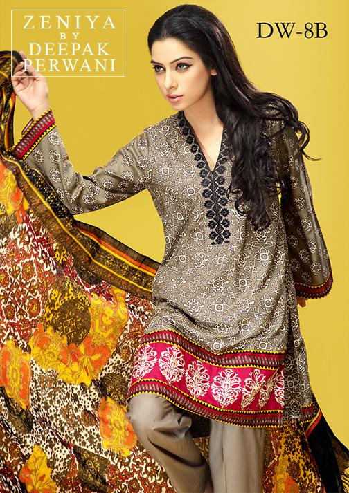 Zeniya By Deepak Perwani Latest Winter Shawl dresses Collection for Women 2014-2015 (11)