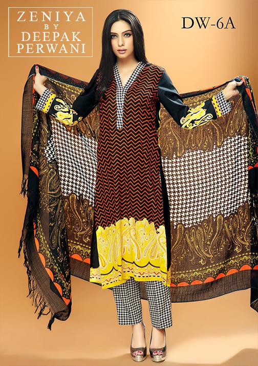 Zeniya By Deepak Perwani Latest Winter Shawl dresses Collection for Women 2014-2015 (12)