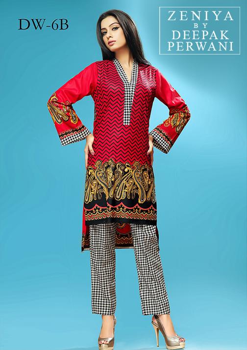 Zeniya By Deepak Perwani Latest Winter Shawl dresses Collection for Women 2014-2015 (16)
