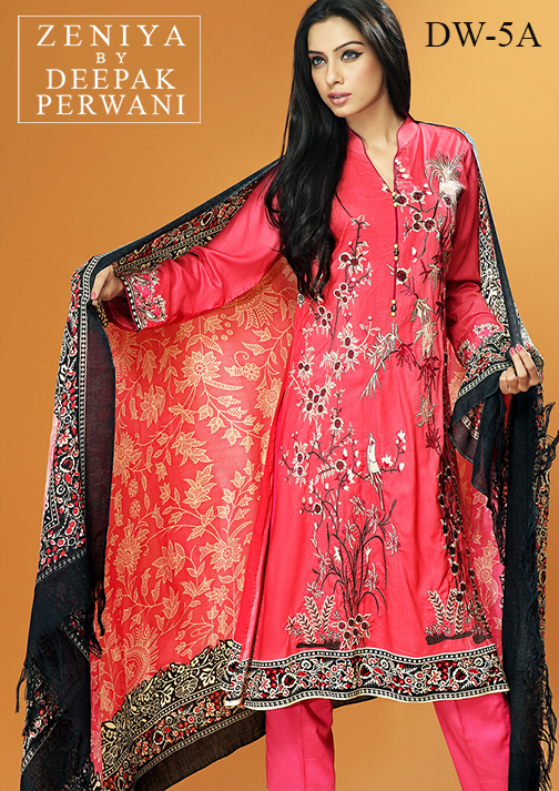 Zeniya By Deepak Perwani Latest Winter Shawl dresses Collection for Women 2014-2015 (17)