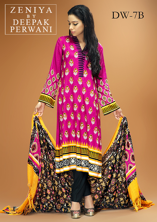 Zeniya By Deepak Perwani Latest Winter Shawl dresses Collection for Women 2014-2015 (20)