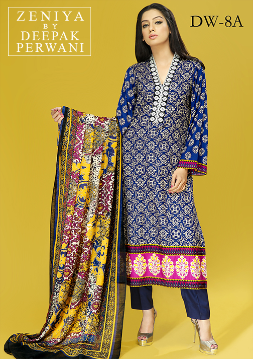 Zeniya By Deepak Perwani Latest Winter Shawl dresses Collection for Women 2014-2015 (3)