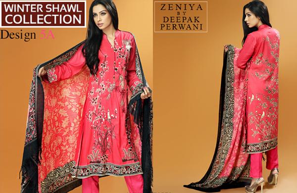 Zeniya By Deepak Perwani Latest Winter Shawl dresses Collection for Women 2014-2015 (7)