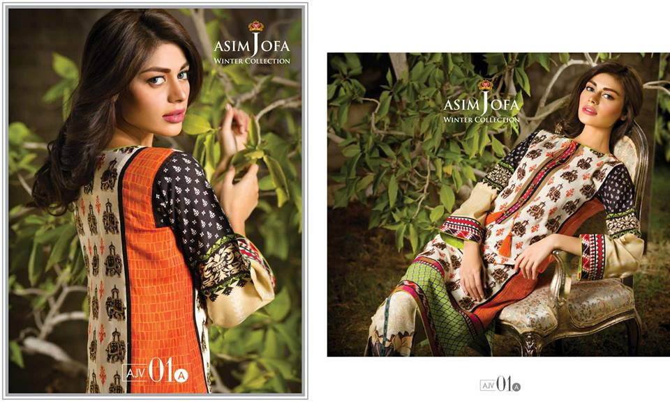 Asim Jofa Latest Winter Embroidered Dresses Collection for Women 2014-2015 (1)