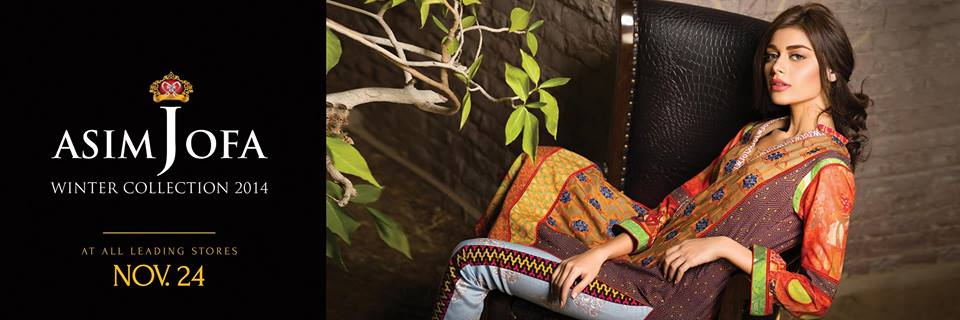 Asim Jofa Latest Winter Embroidered Dresses Collection for Women 2014-2015 (17)