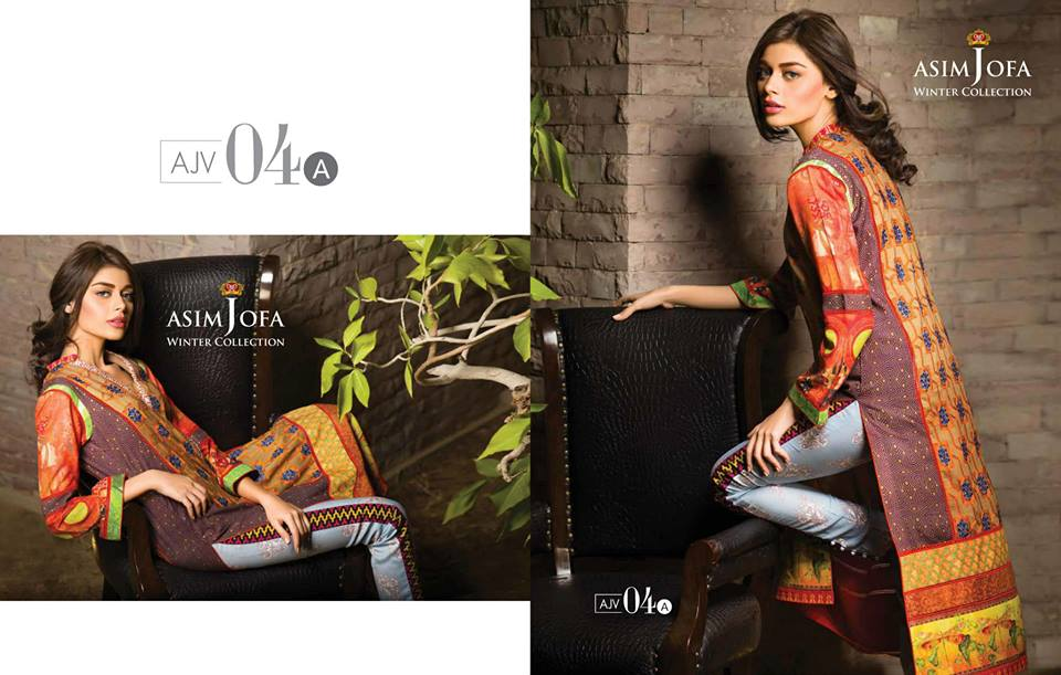 Asim Jofa Latest Winter Embroidered Dresses Collection for Women 2014-2015 (22)