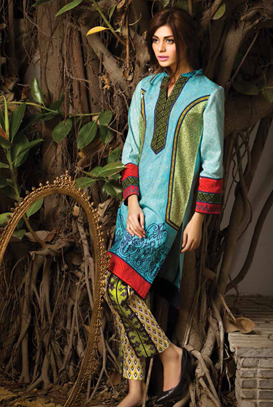 Asim Jofa Latest Winter Embroidered Dresses Collection for Women 2014-2015 (3)
