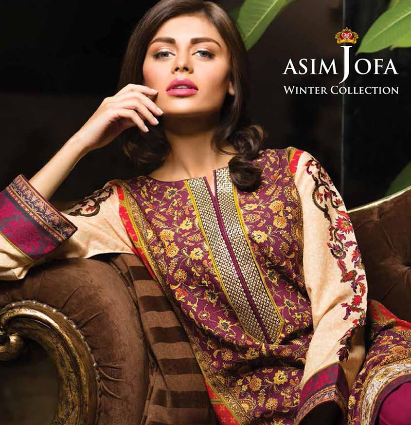 Asim Jofa Latest Winter Embroidered Dresses Collection for Women 2014-2015 (7)
