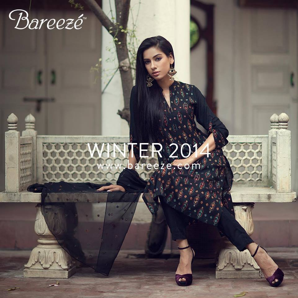 Bareeze Latest Winter Trendy Embroidered Dress Designs Classic Collection 2014-2015 (1)
