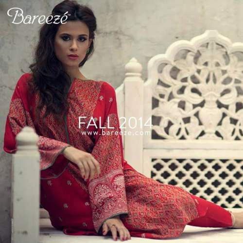 Bareeze Latest Winter Trendy Embroidered Dress Designs Classic Collection 2014-2015 (10)