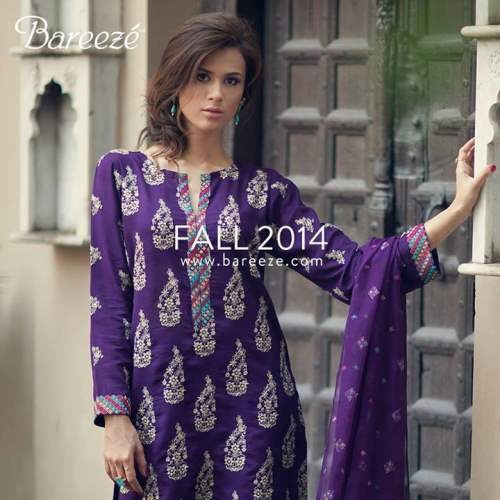 Bareeze Latest Winter Trendy Embroidered Dress Designs Classic Collection 2014-2015 (11)