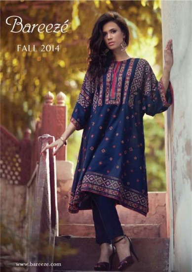 Bareeze Latest Winter Trendy Embroidered Dress Designs Classic Collection 2014-2015 (12)