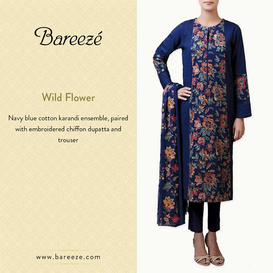 Bareeze Latest Winter Trendy Embroidered Dress Designs Classic Collection 2014-2015 (2)
