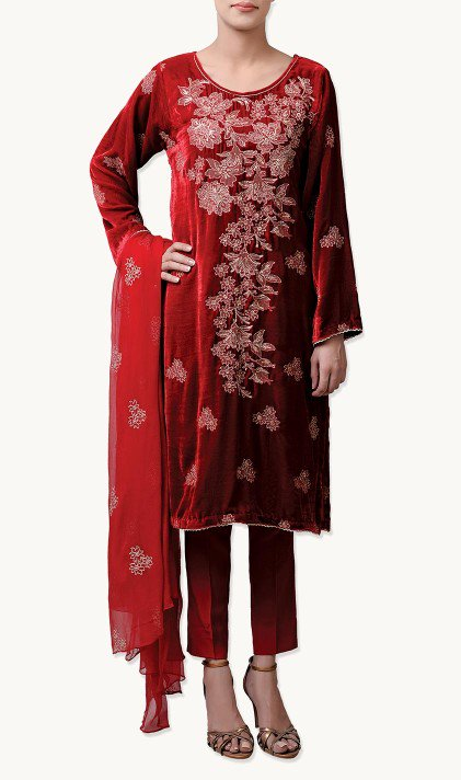 Bareeze Latest Winter Trendy Embroidered Dress Designs Classic Collection 2014-2015 (24)