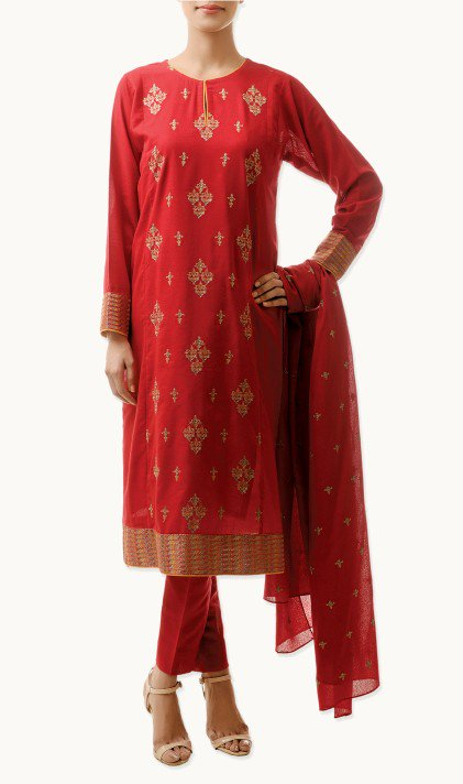 Bareeze Latest Winter Trendy Embroidered Dress Designs Classic Collection 2014-2015 (26)