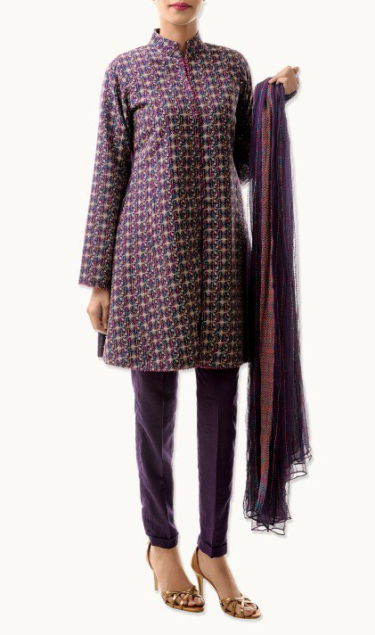 Bareeze Latest Winter Trendy Embroidered Dress Designs Classic Collection 2014-2015 (27)