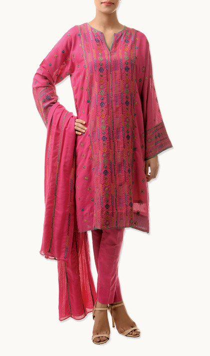 Bareeze Latest Winter Trendy Embroidered Dress Designs Classic Collection 2014-2015 (28)