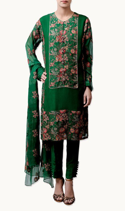 Bareeze Latest Winter Trendy Embroidered Dress Designs Classic Collection 2014-2015 (29)