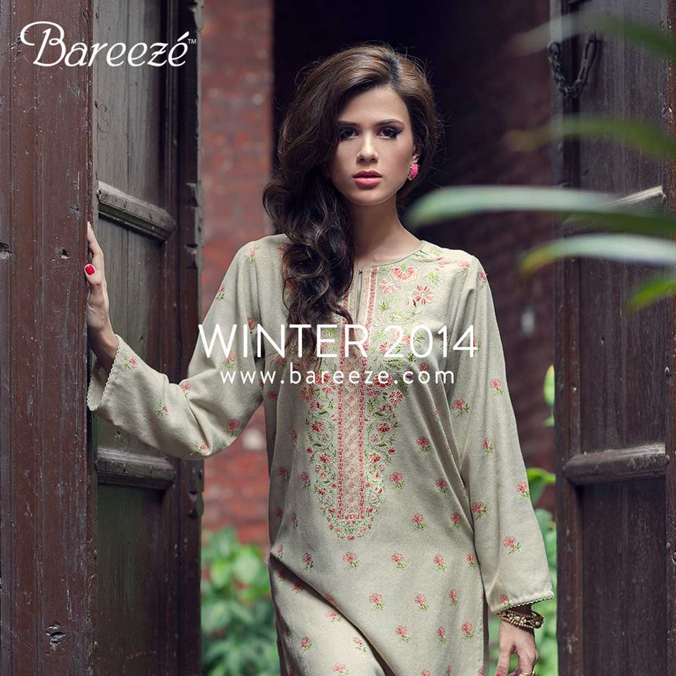 Bareeze Latest Winter Trendy Embroidered Dress Designs Classic Collection 2014-2015 (3)