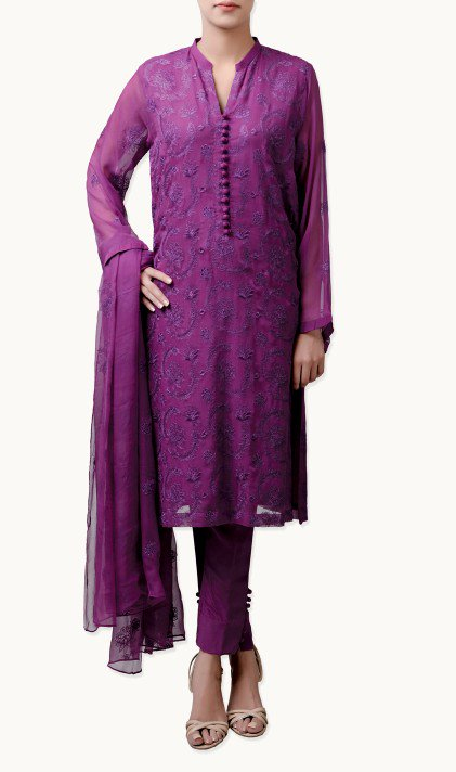 Bareeze Latest Winter Trendy Embroidered Dress Designs Classic Collection 2014-2015 (33)