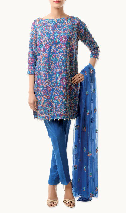 Bareeze Latest Winter Trendy Embroidered Dress Designs Classic Collection 2014-2015 (39)