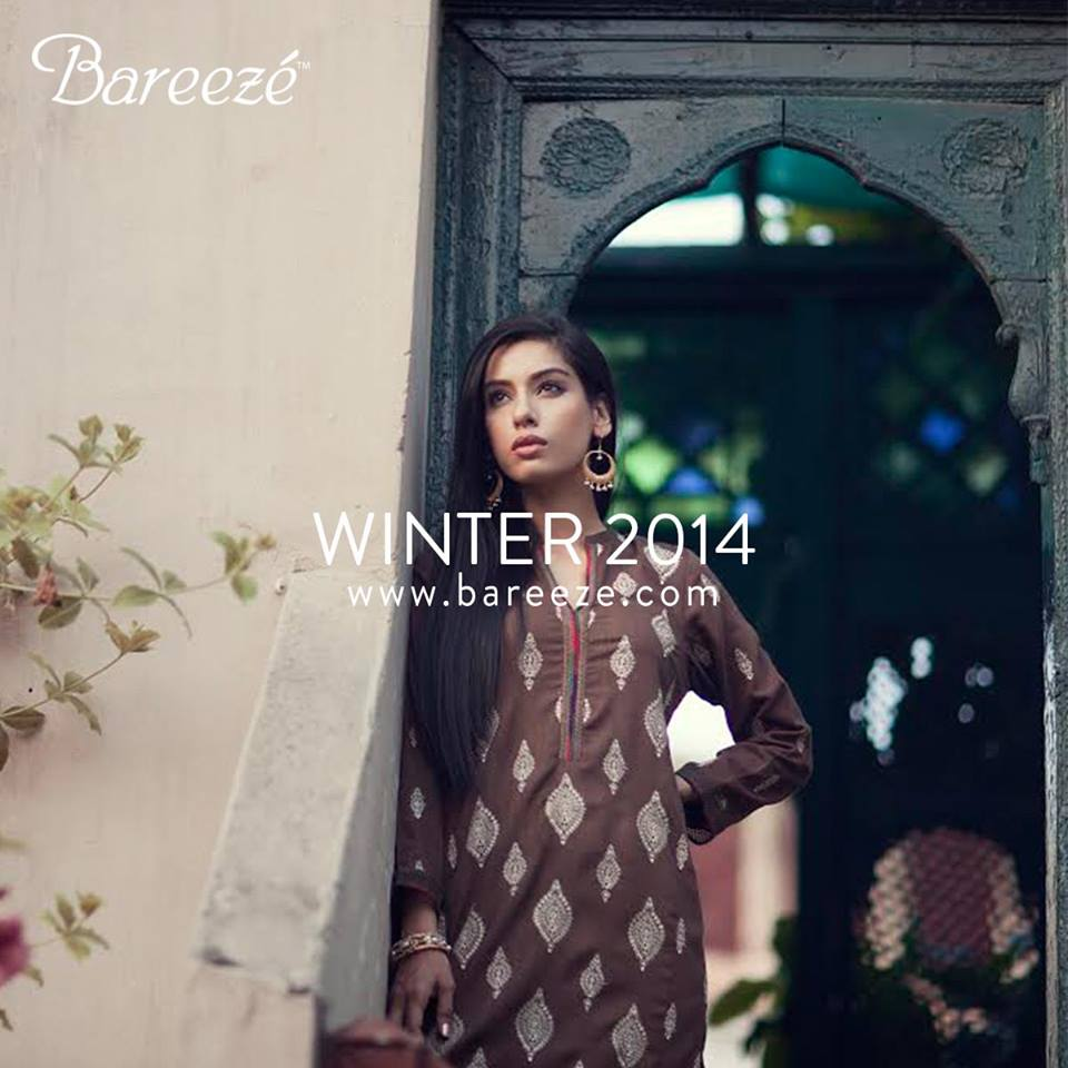 Bareeze Latest Winter Trendy Embroidered Dress Designs Classic Collection 2014-2015 (4)