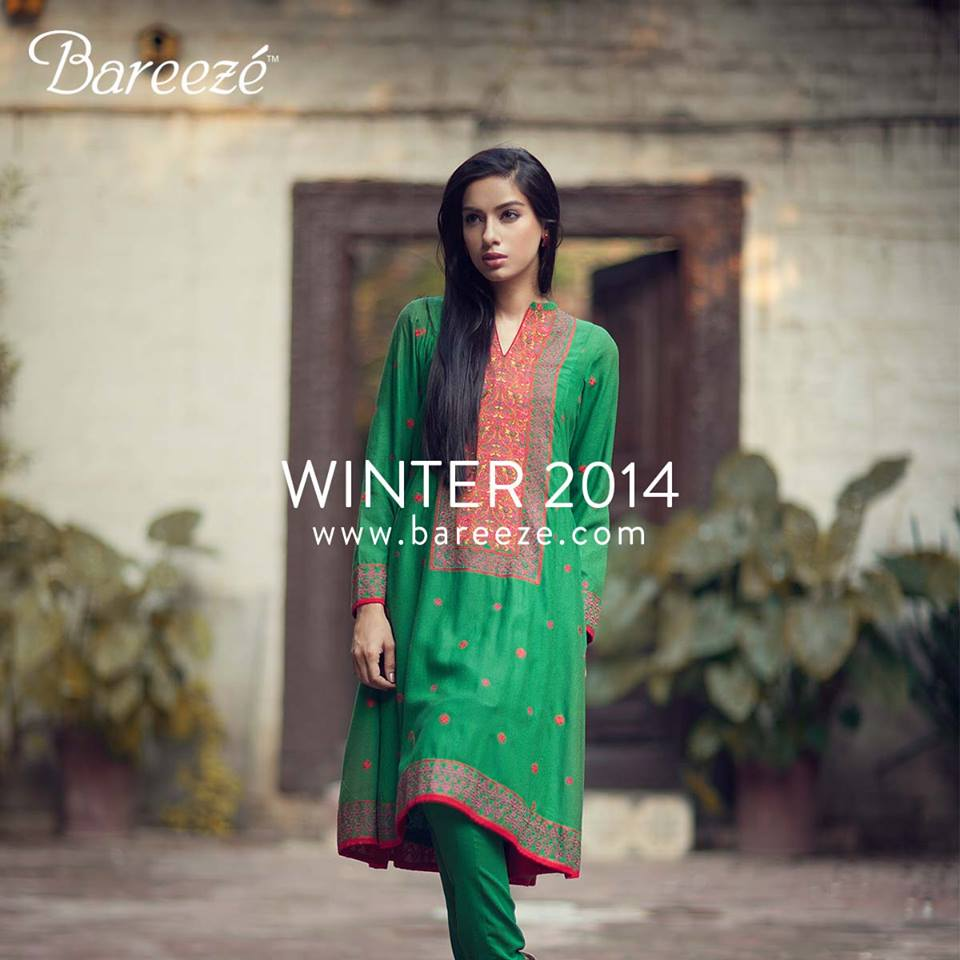 Bareeze Latest Winter Trendy Embroidered Dress Designs Classic Collection 2014-2015 (44)
