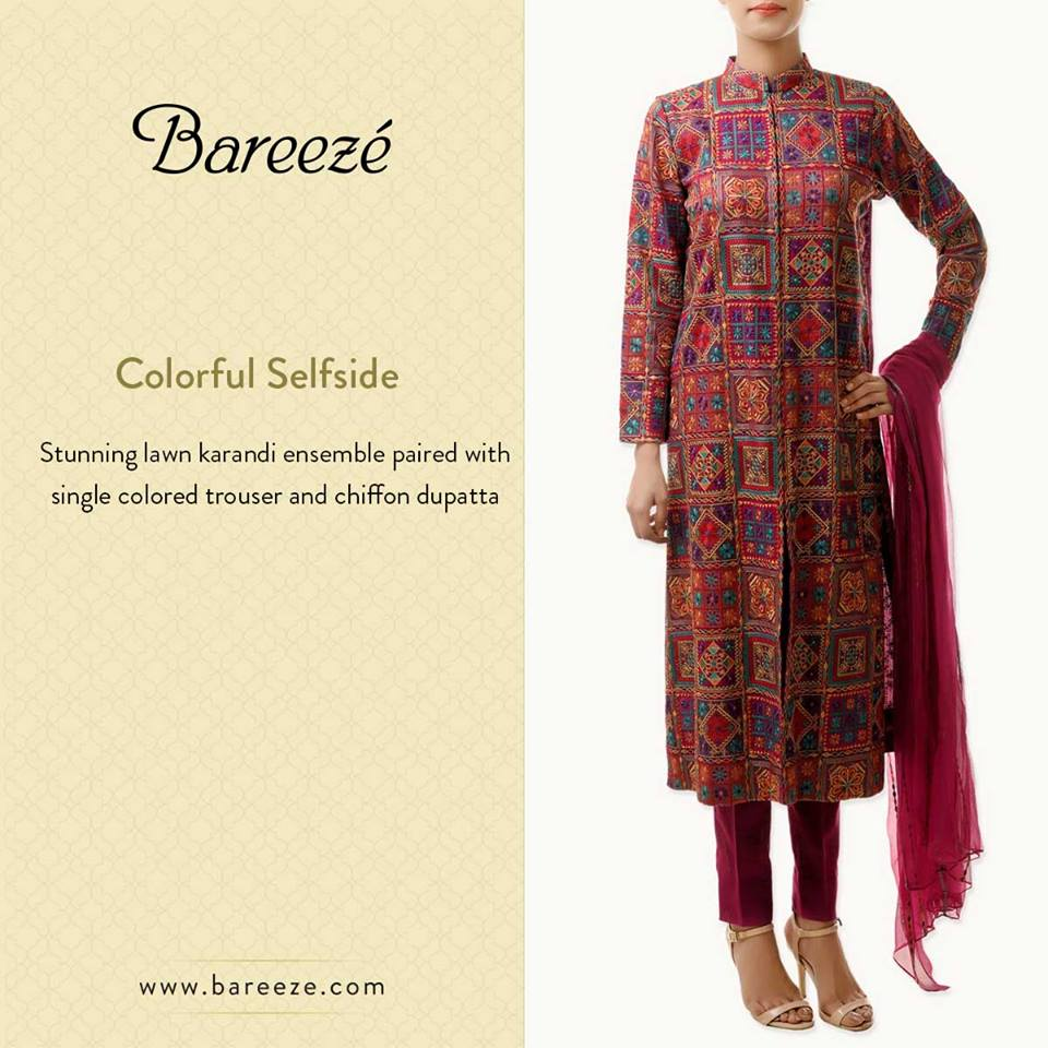 Bareeze Latest Winter Trendy Embroidered Dress Designs Classic Collection 2014-2015 (45)