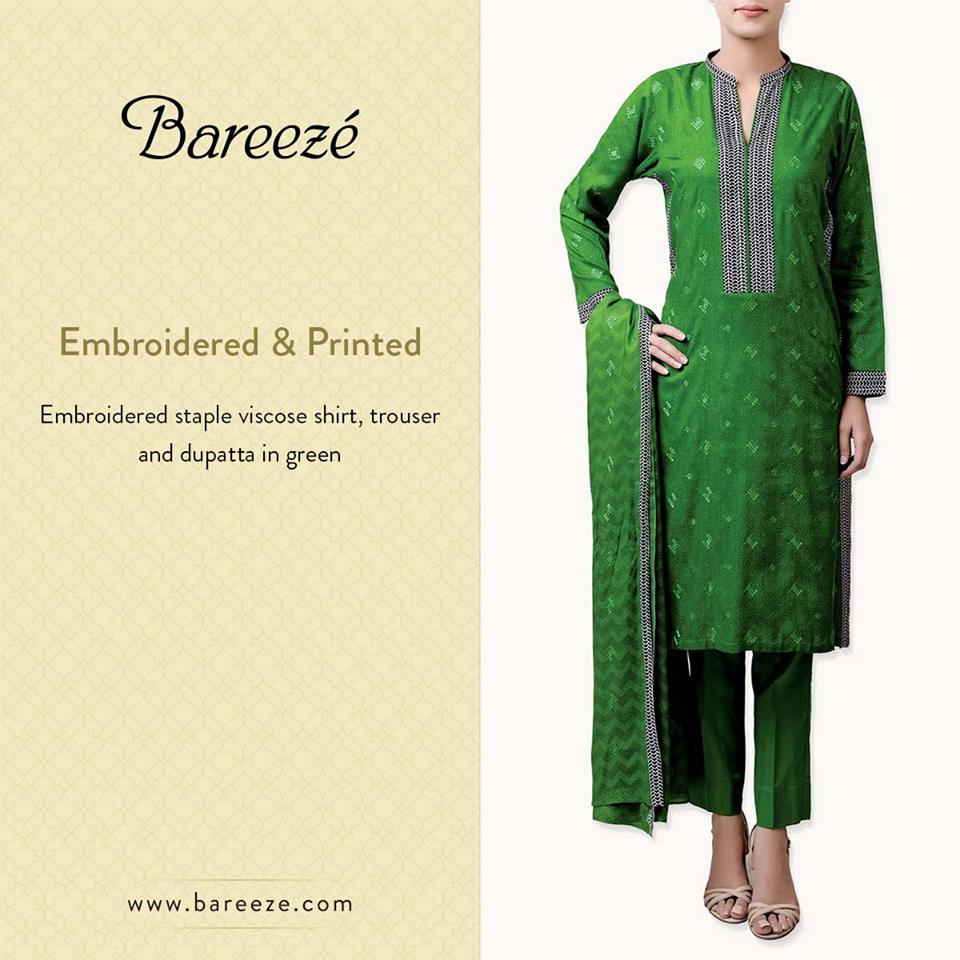Bareeze Latest Winter Trendy Embroidered Dress Designs Classic Collection 2014-2015 (46)