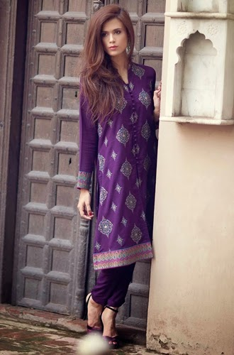 Bareeze Latest Winter Trendy Embroidered Dress Designs Classic Collection 2014-2015 (6)