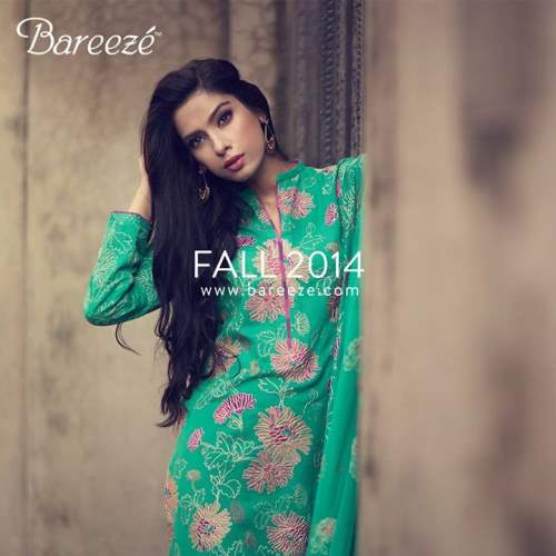 Bareeze Latest Winter Trendy Embroidered Dress Designs Classic Collection 2014-2015 (8)