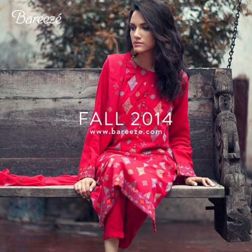 Bareeze Latest Winter Trendy Embroidered Dress Designs Classic Collection 2014-2015 (9)