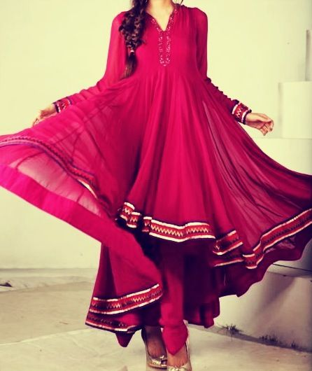 Latest Indian & Asian Fancy Umbrella Frocks Designs Collection For Girls 2015-2016 (17)