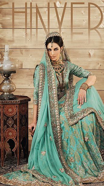 Latest Styles & Designs of Bridal Walima Dresses Collection 2015-2016 (10)