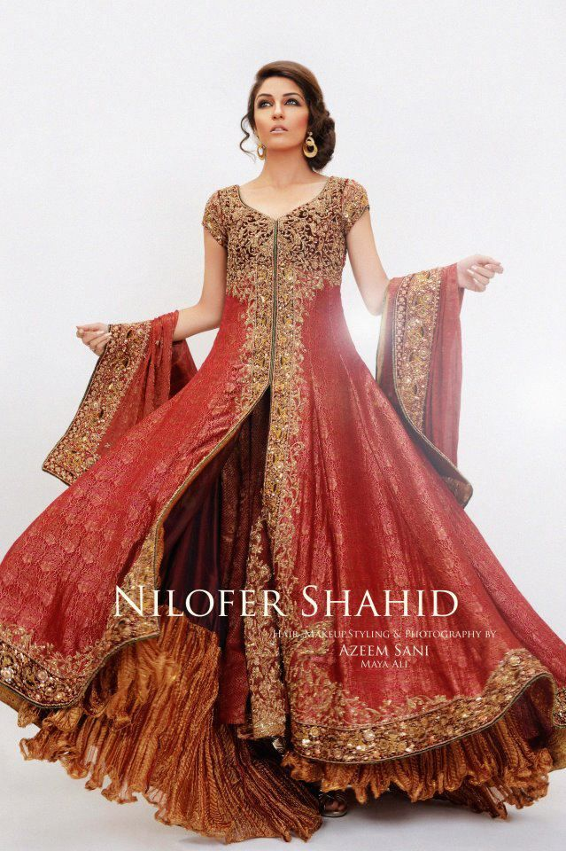 Latest Styles & Designs of Bridal Walima Dresses Collection 2015-2016 (13)