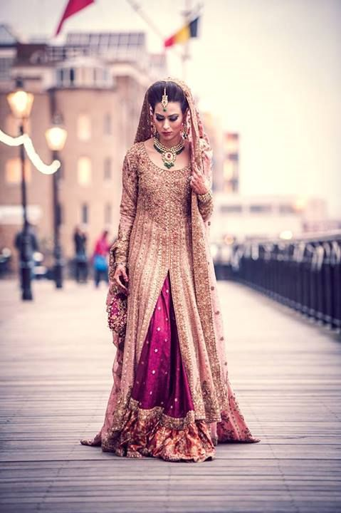 Latest Styles & Designs of Bridal Walima Dresses Collection 2015-2016 (14)