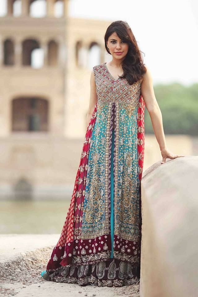 Latest Styles & Designs of Bridal Walima Dresses Collection 2015-2016 (25)