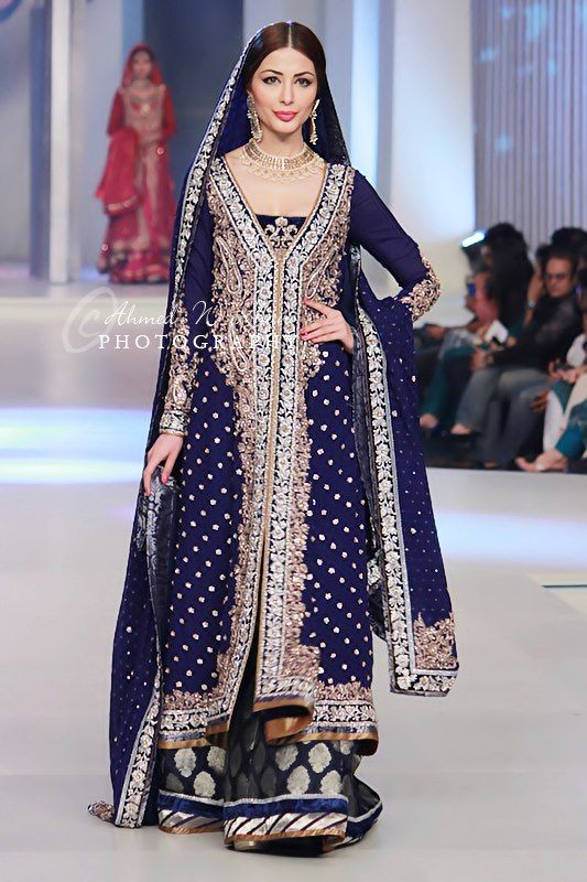 Latest Styles & Designs of Bridal Walima Dresses Collection 2015-2016 (29)